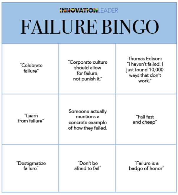 failure bingo